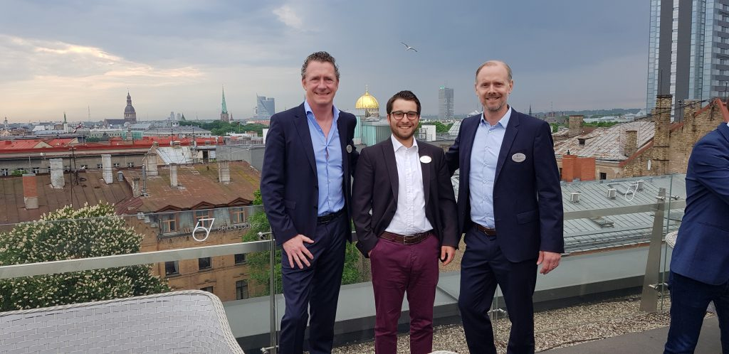 Dr. Sebastian Schütz, Nicolas Plessow und Caspar Schroth bei der Cicero League of International Lawyers Jahresveranstaltung in Riga vom 17-19. Mai 2018